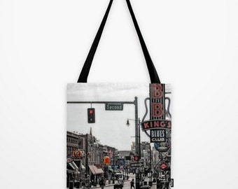 Tote Bag Beale Street Memphis Tennessee Street Scene