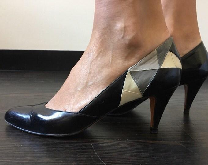 Vintage Bally Colorblock Heels
