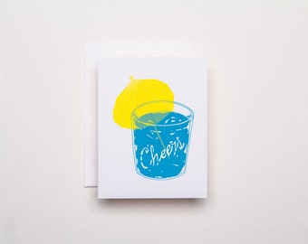 Cheers Everyday Card - Letterpress Card