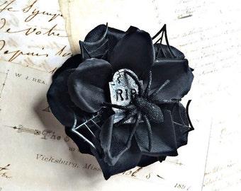 Rip spider black rose clip