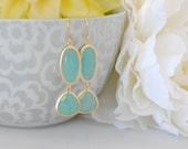The Brielle Earrings - Mint/Gold