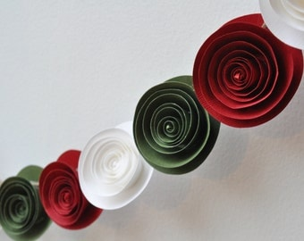 Christmas  Garland- Paper Flower Garland- Grinch Garland