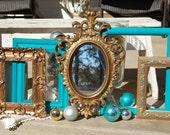 Shabby Chic Decor / Ornate Frame Set  /  Picture Frames  /  Shabby Chic Frames