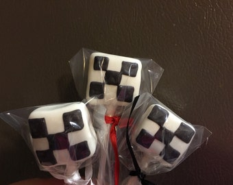 Racing Flag Cake Pops