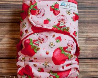 "AI2 Cloth Diaper- ""Strawberry Shortcake"""