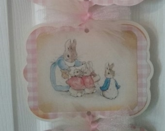 Peter Rabbit Baby Girl - Baby Girl Peter Rabbit Hosp. Sign - Peter Rabbit Baby Shower