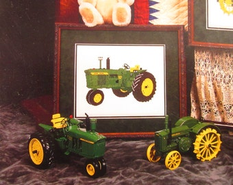 John Deere Tractor Needle Work Graphic for Cross Stitch or Plastic Canvas or Needle Point: FREE US Shipping