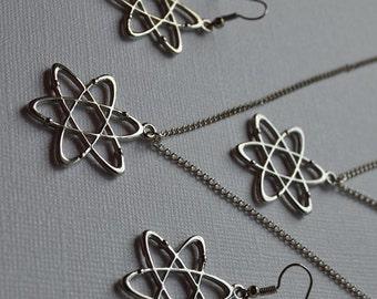 Biolojewelry - Ultimat Atom Science Bracelet Earrings and Necklace Set