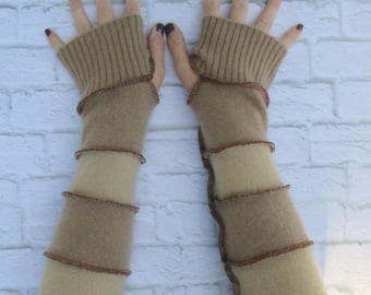 Cashmere Wrist Warmers - Fingerless Gloves - Hippie Gloves - Cashmere Fingerless Mitts - Warm Gloves -  Gypsy Clothing - Christmas Gift