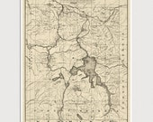 Old Yellowstone National Park Map Art Print 1900 Antique Map Archival Reproduction
