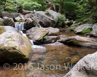 Fine Art Photography Print - Mountain Stream with Waterfall