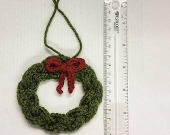 Knit Wreath Ornament Pattern (PDF)
