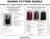 """Star Trek DS9/NEM Men's """"Captain"""" Ensemble: Sewing Pattern Bundle - save 10%!"""