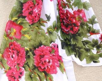 Multicolor Silk Scarf, Silk Scarf, Chiffon Neck Scarf, Flower Scarf, Womens Scarf, Gift for her, Womens Gift, Handmade Scarf