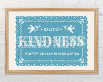 Kindness Nursery Print