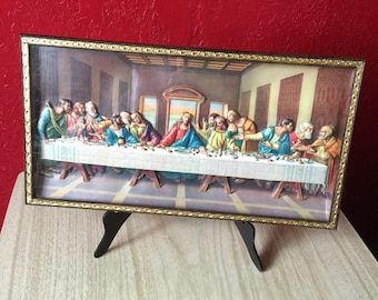 Three Dimensional Last Supper ~ Framed Wall Hanging