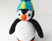 Amigurumi Crochet Oscar the Penguin Pattern-PDF Instant Download