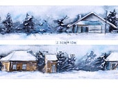1 Roll Limited Edition Washi Tape-  Tranquilly Snow Scene
