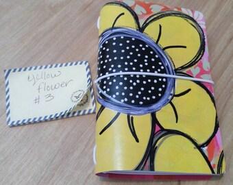Flower Yellow #3 Kraftex Journal Little