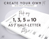Create Your Own Printable KIT - NEAT Theme - Half-letter and A5 Planner Inserts