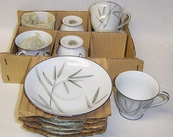 Noritake China 5191 BAMBINA DEMITASSE After Dinner Cups and Saucers, Set of Six