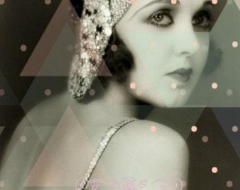 Vintage image altered art,Irene Delroy,1920s,Ziegfeld Follies dancer,Image Instant Download.