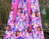 A Boutique Pillowcase dress featuring Dora the Explorer Best Friends Size 3 months thru 6/7 available: CH065