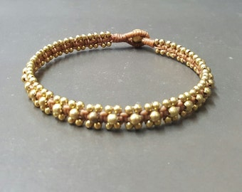 Handmade Light Brown brass Anklet