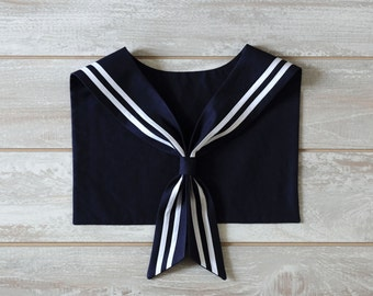 Sailor Collar. Navy Blue.