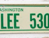 Set of 3 Vintage Bicycle License Plates- Washington, Iowa, and Colorado