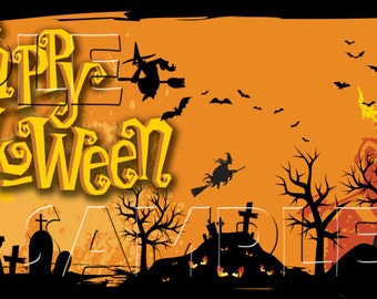 Halloween - Personalized Large 2x6 Vinyl Banner