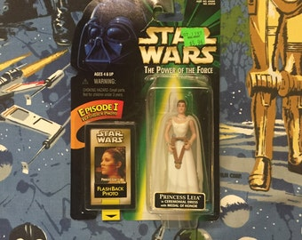Vintage STAR WARS: Power of the Force • Princess Leia Organa • Sealed 1990s Early Episode I Promo