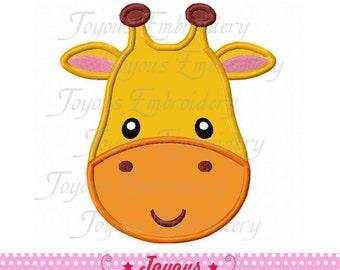 Instant Download Giraffe Face Applique Machine Embroidery Design NO:2009
