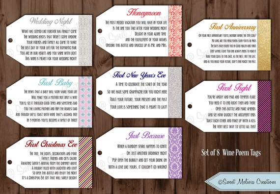 Lucrative image pertaining to printable wine tags for bridal shower gift