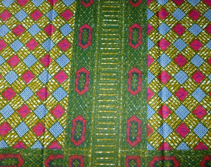 African Fabrics Block Wax Print / Fabric For Dressmakings/Fabric for Sewing Dresses Sold By The Yard Kitenge/Pagnes 152042121989