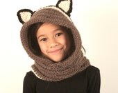 30% Off Crochet PDF Pattern Hooded Scarf With Ears, Instant Download
