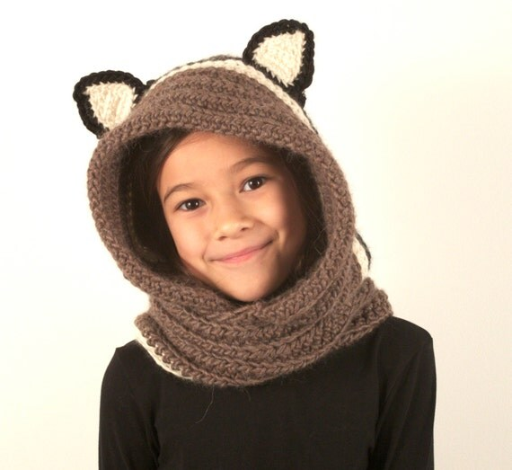 Crochet Pattern Hooded Scarf With Ears : 30% Off Crochet PDF Pattern Hooded Scarf With Ears by wawau