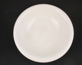 Large, Vitrified China Wash Basin - White Ironstone Bowl - Rolled Rim - 'T.S.' Made in England - White on White Ironstone  - Collect and Use