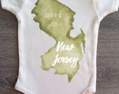 Loved in New Jersey, Baby, Boy, Girl, Unisex, Infant, Toddler, Newborn, Organic, Bodysuit, Outfit, One Piece, Clothes, Layette, Creeper