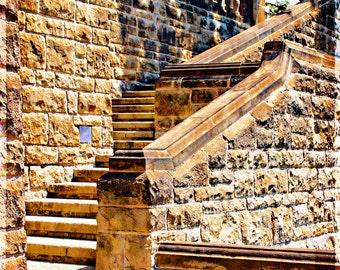 Greystone Mansion stairs LA