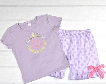 Rapunzel-Inspired Short Set