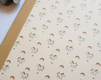 "Handmade notebook environmentally friendly: ""unicorns"""