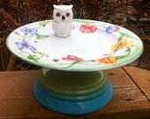 Whimsical Owl Birdbath/Birdfeeder-Fleamarket GardeningSALE