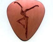 Personalized Guitar Pick - Engraved Copper Guitar Pick - Into Your Heart I'll Beat Again, Summer Sale, Fire Dancer