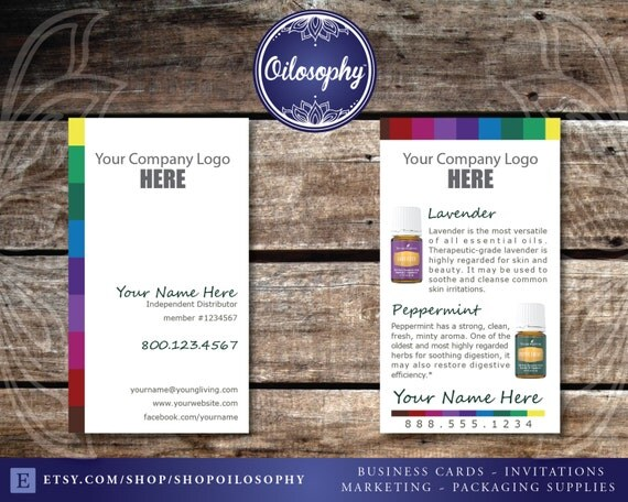 Young Living Business Cards Spectrum Design & by ShopOilosophy