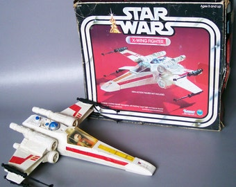 Vintage Star Wars X-Wing Fighter Complete With Original Box & Luke X-Wing Pilot Figure