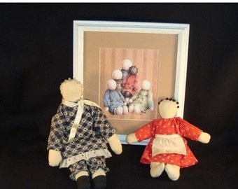 STORE WIDE SALE Folk Art Dolls and Picture