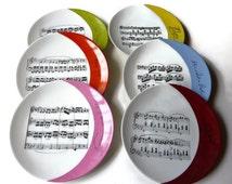 Plate porcelain music scores