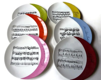 Plate china the music partitions