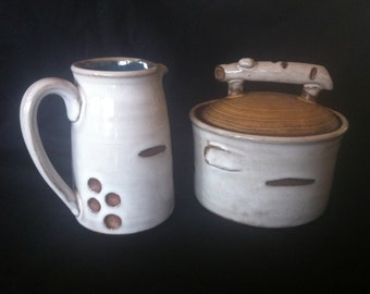 Birch Sugar and Creamer Set